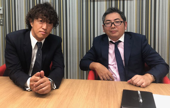 AMBITIの清水社長(左)とGTNの後藤社長